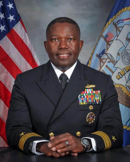 Rear Admiral Cedric Pringle from the US Navy